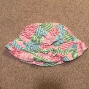 Gymboree Tennis Match Sun hat floppy Seersucker